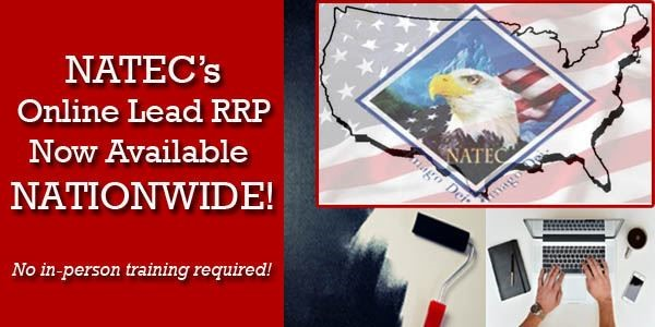 NATEC's Online Lead RRP Refresher Now Available Nationwide!